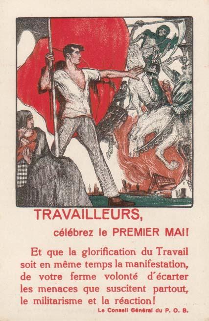 1. mai kort 1892. Tyskland.