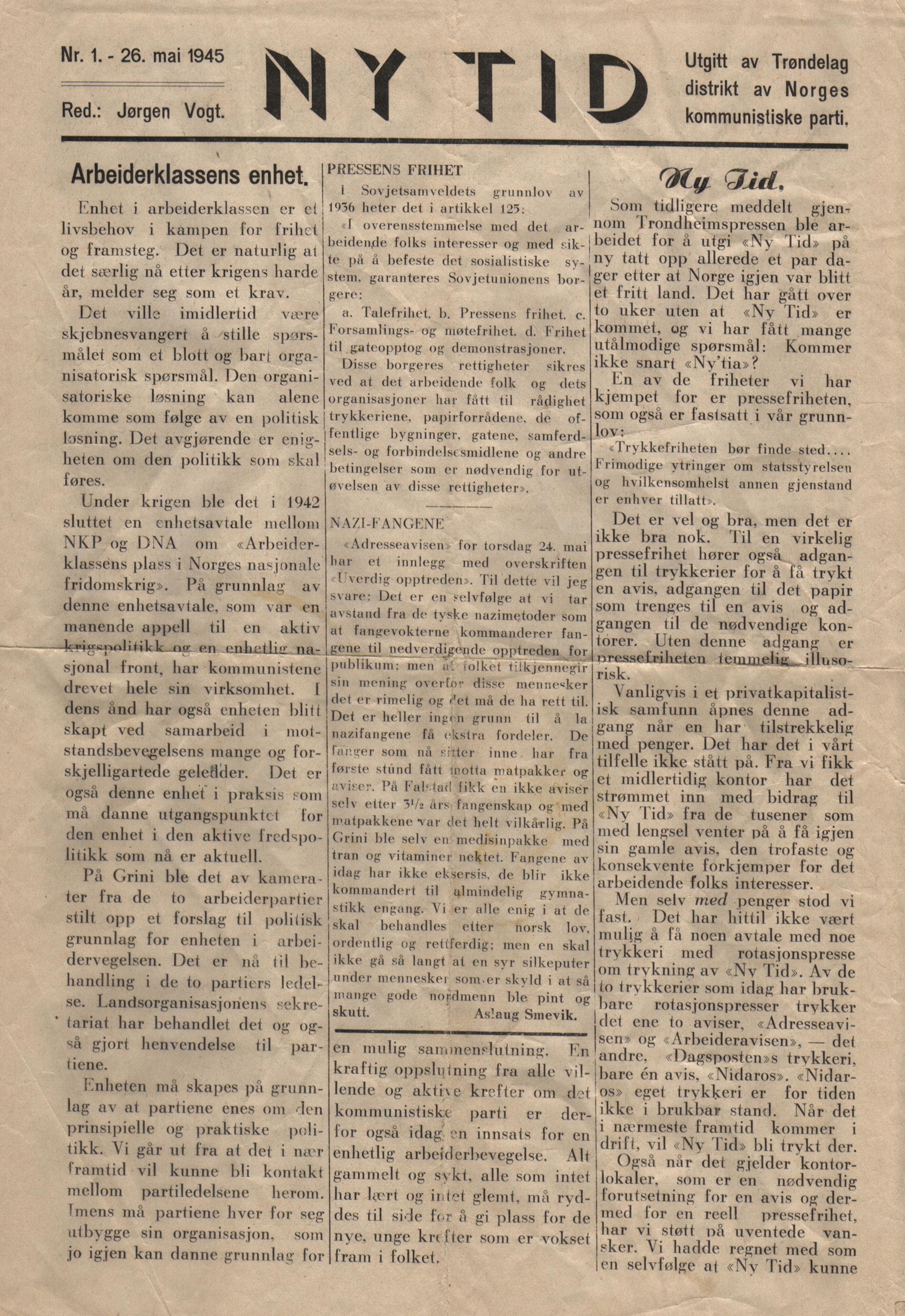oppsummering av norge i etterkrigstiden